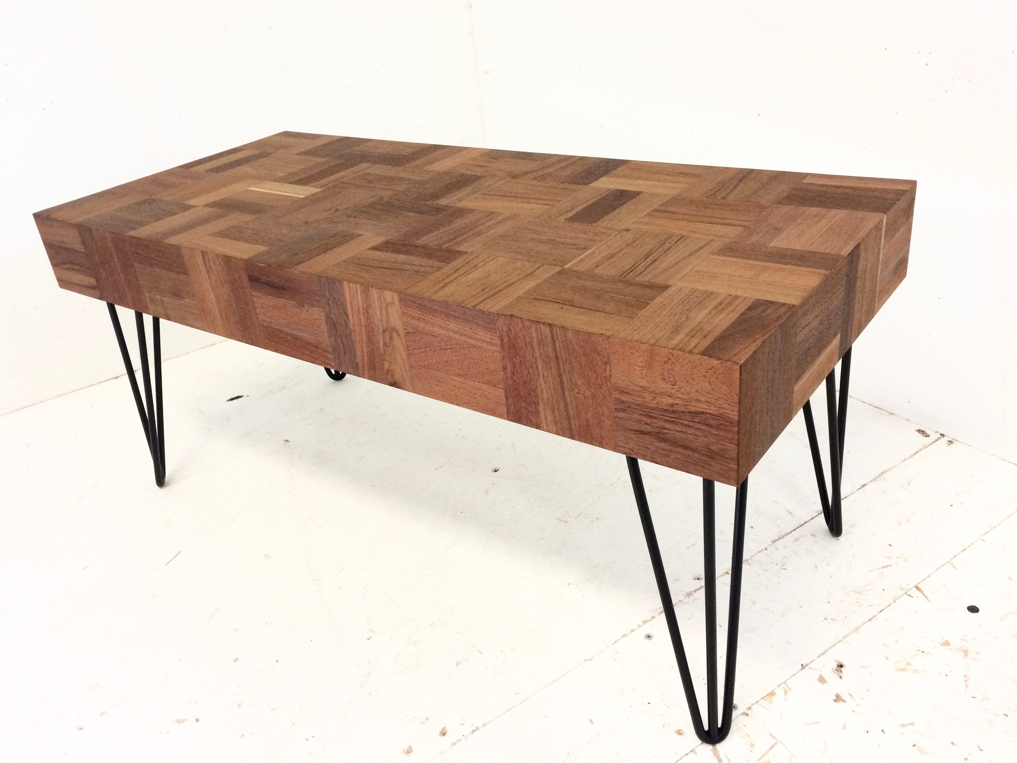 Reclaimed Parquet Flooring Coffee Table