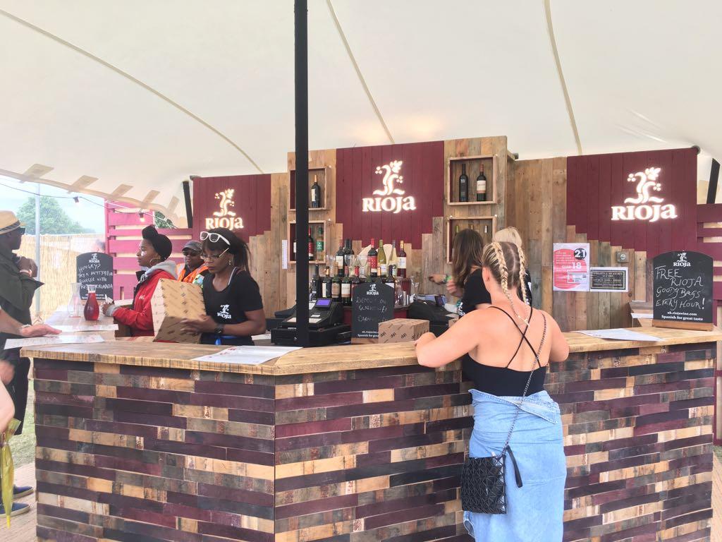 Festival wine bar