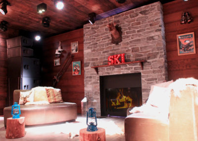 Ski Lodge Interior Set Build